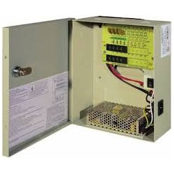 DC9C10AULBB - 12 Volt DC, 9 Channel, 10 AMP, UL Listed Power Supply - PTC Fused with Optional Backup Battery